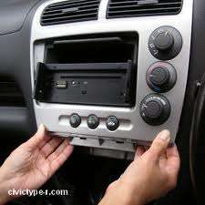 car stereo removal example
